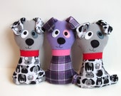 Dog Pattern - Scruffy the Stuffed Doggie PDF Sewing Pattern - Soft Dog Toy for Babies Toddlers Child-Safe or Dog Toy Wolf Pattern - MyFunnyBuddy