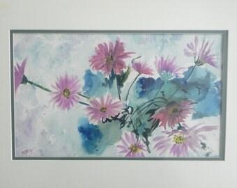 Original Watercolor Still Life Floral