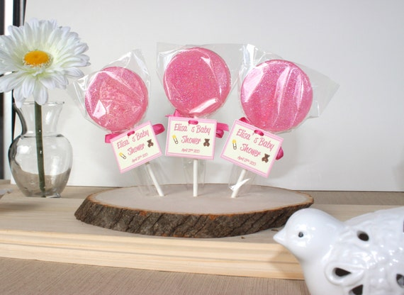 pink baby shower lollipops it 39 s a girl party favors baby girl baby