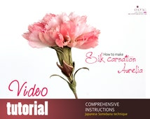 Video tutorial how to make SILK CARNATION using japanese flower making tools
