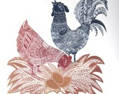 Nesting- Original Limited Edition Linocut