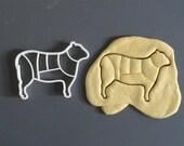 Lamb cookie cutter, cuts ...