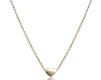 Valentines Promotion! Little Heart Silver Necklace with Tiny Heart Charm