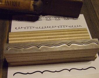 "Letterpress Printing Block ""Bracket Line Border"" Letterpress Blocks - Print Blocks - Mounted Letterpress Block - Magnesium Print Plate"
