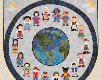 HBH117 - We Are The World Quilt PATTERN