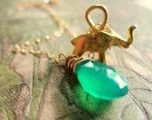 CREATIVE Necklace - Gold Elephant Necklace