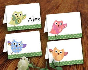 diy printable party decor Children tent Labels baby tent blank tent place cards blank food tent cards birthday decoration baby cards owl 441
