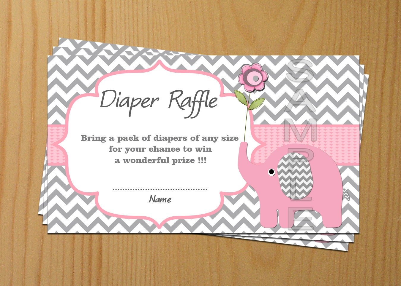 elephant baby shower diaper raffle ticket diaper by diymyparty