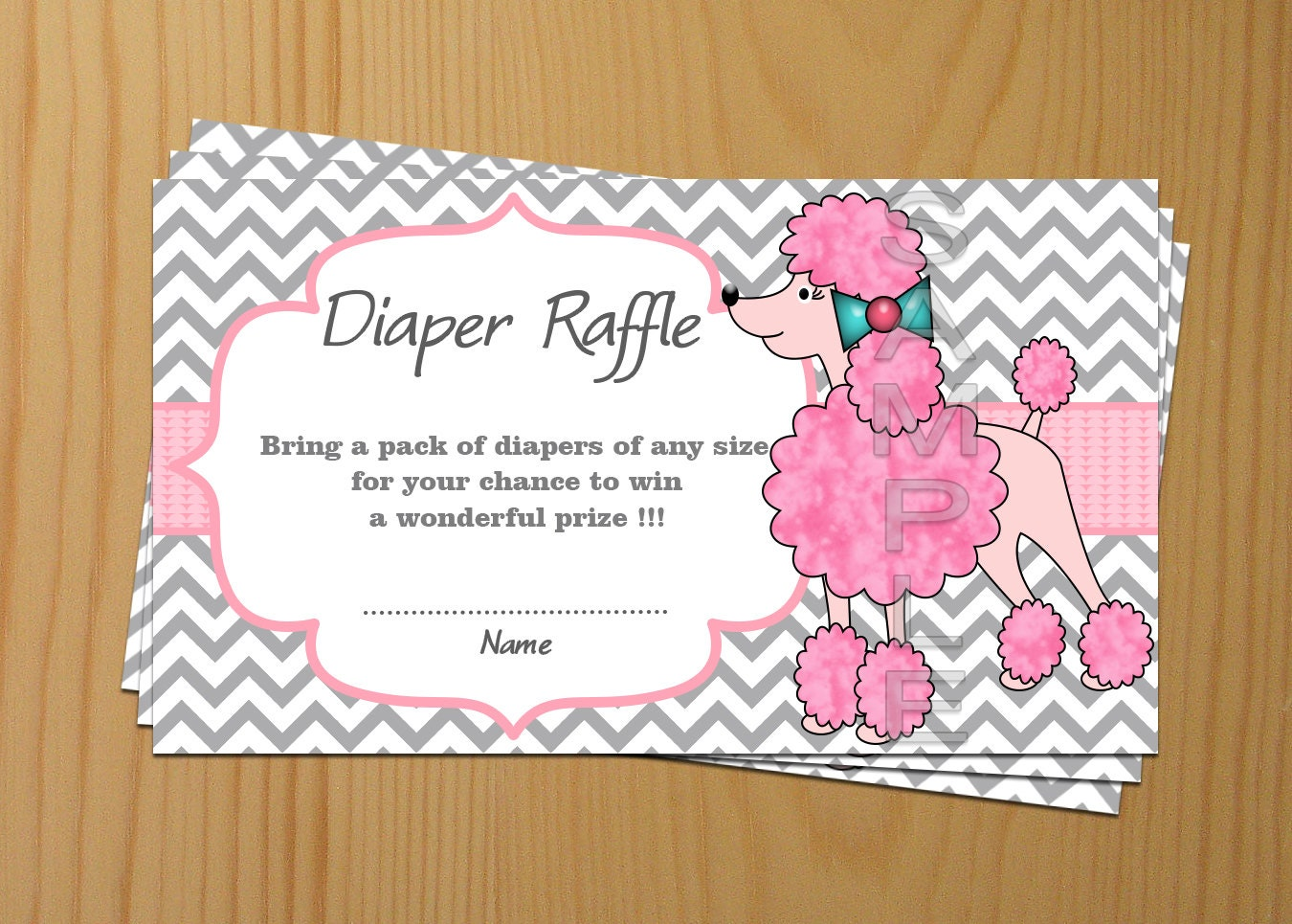 baby shower diaper raffle ticket diaper raffle card diapers