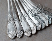 Silver Plated Spoons Made in Soviet Union - Set of 10 Soup Spoons - OldTimeStories