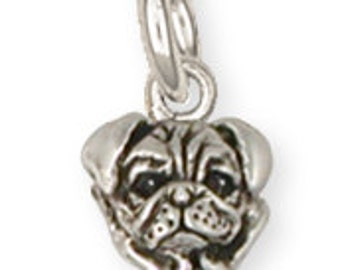 Pug Dog Charm Jewelry  PG36-C