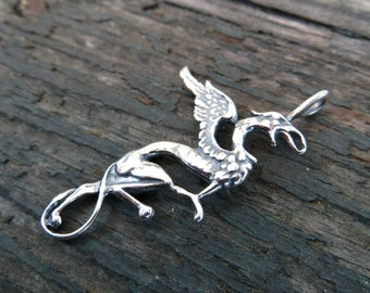 Sterling Silver Gryphon pendant (.925) -Destash