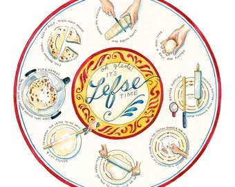 Lefse Time // ILLUSTRATION // 12x12