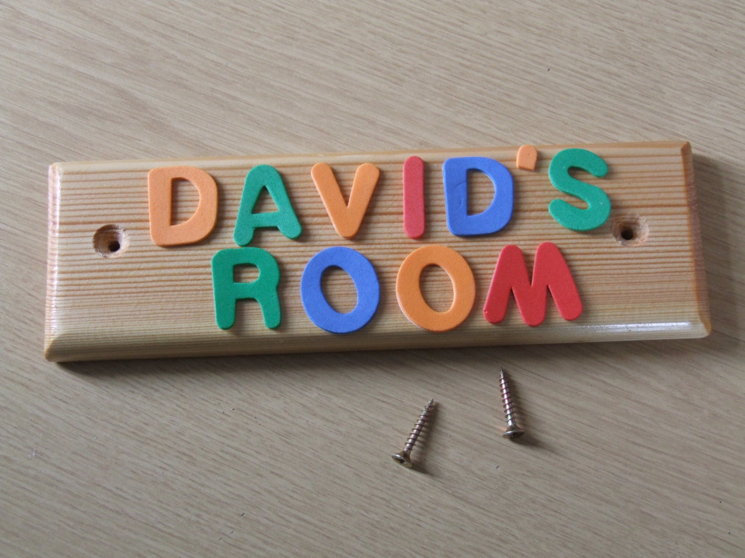 Name Plate: Wooden Door Name Plate For Children's Or Baby's