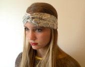 Turban Headband Womens Accessory Hair Fashion Headwrap Turban Headband Band Blue Paris Map