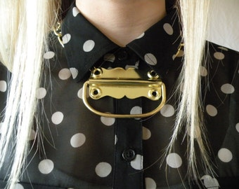 Gold Chunky Hardware Necklace