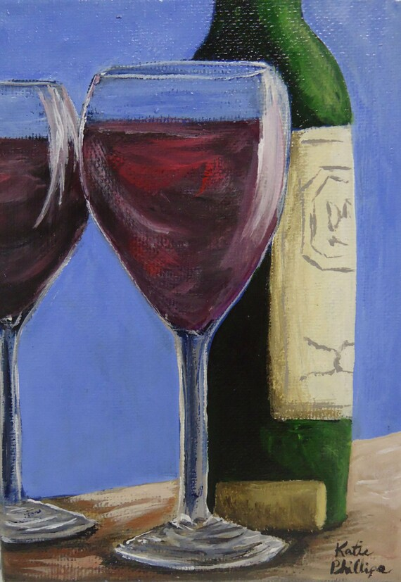 Wine glass painting wine loves company a small for Acrylic paint on wine glasses