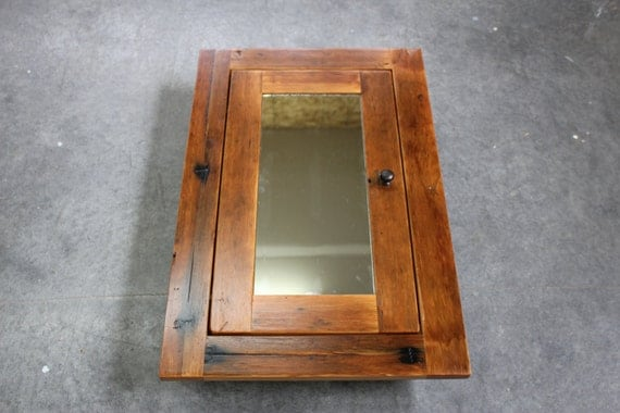 Rustic Reclaimed Fir Medicine Cabinet or Spice by