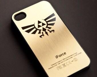 ZELDA TRIFORCE Golden iPhone Case Firm Rubber 6S-6-SE-5s-5-4s-4 Gold Link Cover iforce