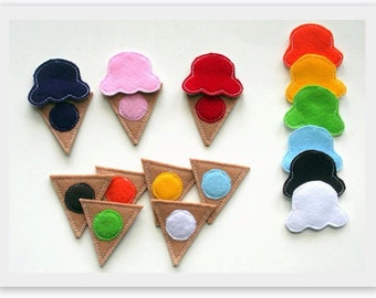 Ice Cream ITH Color Matching Game Embroidery Design In the Hoop Files