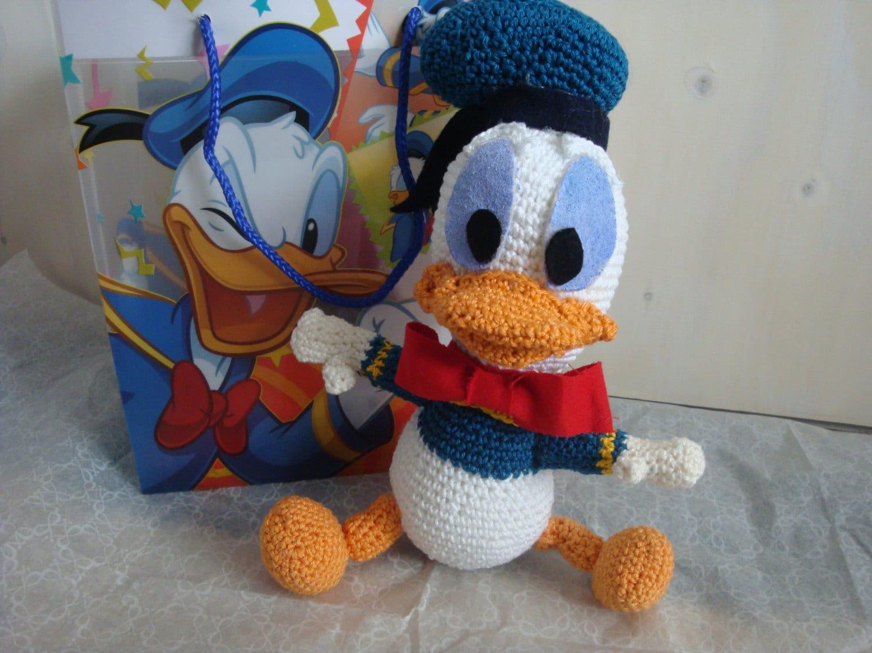 Amigurumi Donald Duck : Baby Donald Duck Amigurumi haak pakketje van Kapteinhaak ...