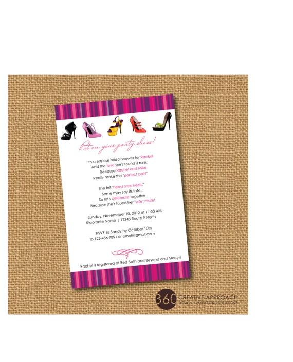 Printable shoe theme bridal shower party invite diy printable etsy filmwisefo