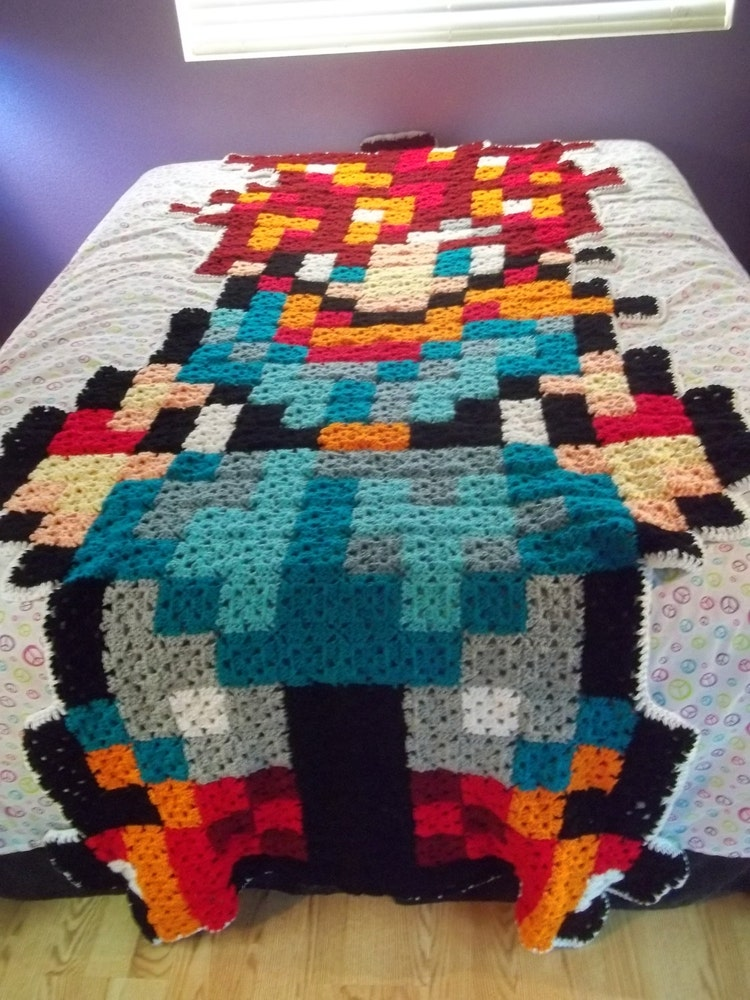 Chrono Trigger Pixel Art Blanket By Geekycraftsnmore On Etsy