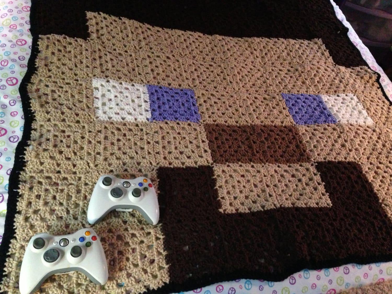 Xbox Crochet Pattern : Miner Guy Crochet Blanket