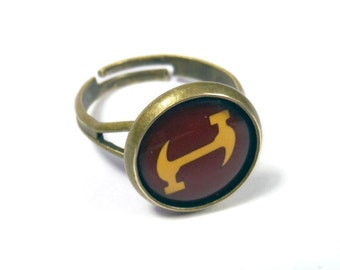 The Simpsons Stonecutters Bronze Adjustable Ring