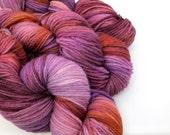 Arabian night, DK weight, 100% superwashed merino, Hand-dyed yarn