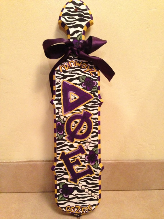 custom order sorority paddle kaliyee by sororitybye on etsy