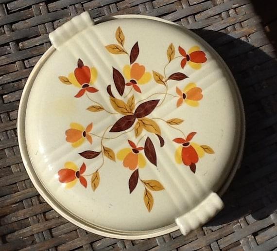 Vintage Hall Autumn Leaf Covered Casserole Jewel Makers