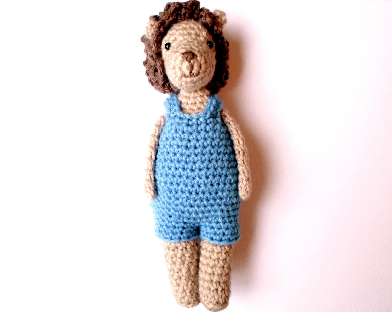Little Lion Boy crochet amigurumi pdf pattern INSTANT DOWNLOAD