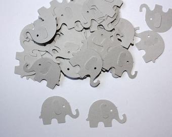 50 Grey Elephant Confetti, Die Cut Elephants, Birthday Party Decor, Elephant Baby Shower, Confetti, Scrapbook, Elephants, Gray