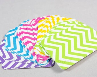 25 Chevron Tags, Chevron Print Hang Tags, Merchandise Tags, Price Tags, Gift Tags, Wedding, Shower, Gift Tags, Pink Blue Green