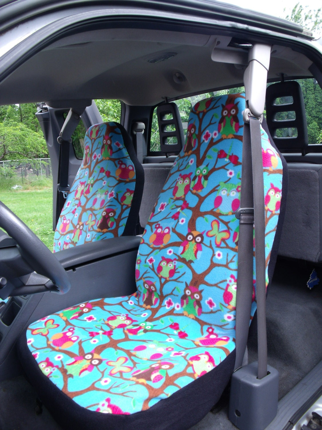 1 Set Of Cute Owls Print Custom Made Car Seat Covers