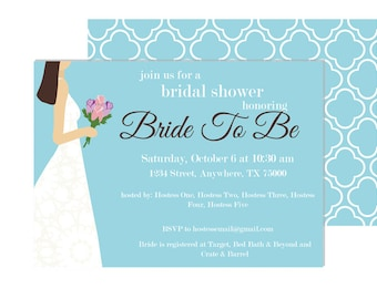 Bride To Be Wedding Shower Invitation - Printable