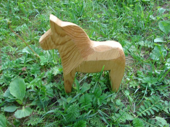 Swedish Wooden Horse Handmade Dala Horse Unpainted By