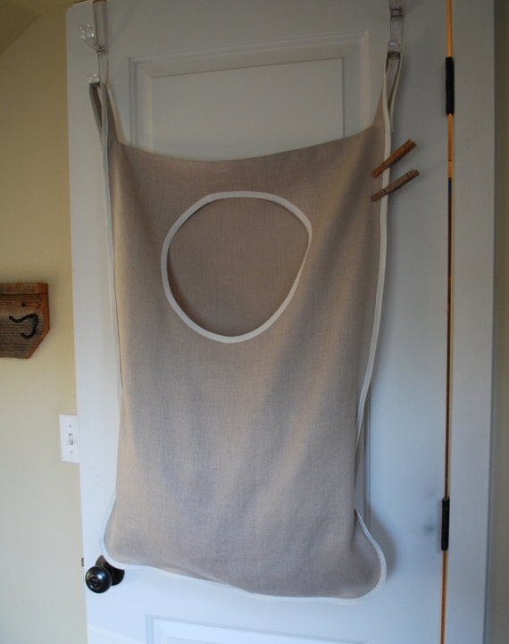Laundry Bag Hamper Hanging    Natural Linen