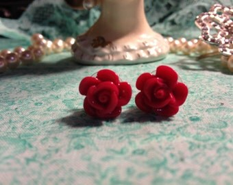 Retro Rose Post Earrings