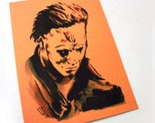 The Blackest Eyes - Original artwork by Zombie Rust - Halloween - Michael Myers
