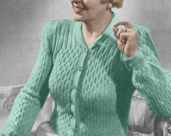 Free Ladies Knitting Patterns Download : Vintage Knitting Pattern 1940s Knitted Stockings PDF