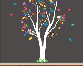 Tree FABRIC Wall Decal Peel and Stick - T101