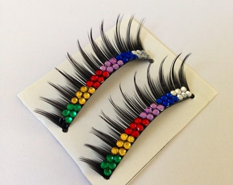 Rainbow Glamour False Eyelashes