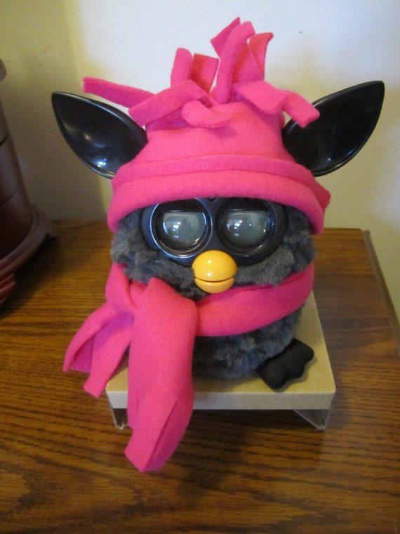 Furby Clothes Fleece Hats Scarf Sets Custom Orders Welcome