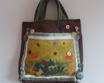 little printed handbag