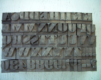 RC2 -  AWESOME Chunky LETTERPRESS Lot - Almost all Inclusive