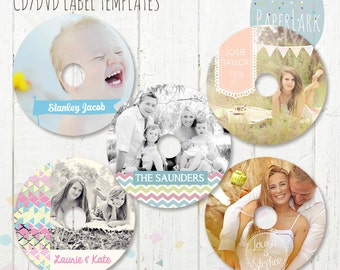 CD/dvd label photoshop templates - EB001 - INSTANT Download