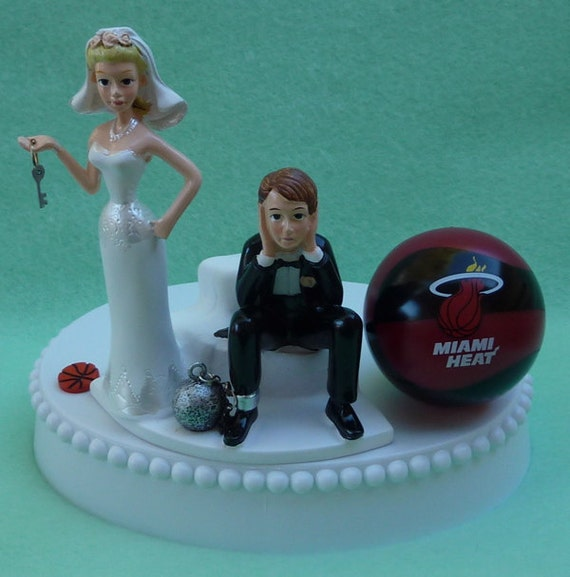 wedding cake toppers miami fl wedding cake topper miami heat basketball themed and 26535