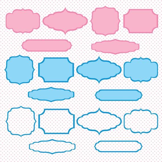 Marcos digitales descarga inmediata clip ar rosa azul para - Listones para marcos de cuadros ...